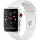 Apple Watch Series 3 (GPS + Cellular) Silver Aluminum Case with White Sport Band