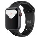 Apple Watch Series 5 (GPS + LTE) Nike+ Mặt 44mm - Viền Nhôm Xám - Dây Đen(MX3A2)