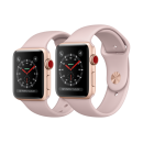 Apple Watch Series 3 (GPS + Cellular) Gold Aluminum Case with Pink Sand Sport Band(Like New)