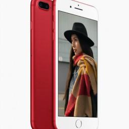 iPhone 7 và iPhone 7 Plus màu đỏ rực bất ngờ ra mắt