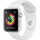 Apple Watch Series 3 (GPS) Silver Aluminum Case with White Sport Band