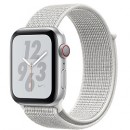 Apple Watch Series 4 (GPS + Cellular) Nike+ Silver Aluminum Case with Summit White Nike Sport Loop