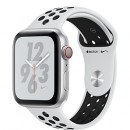 Apple Watch Series 4 (GPS + Cellular) Nike+ Silver Aluminum Case with Pure Platinum/Black Nike Sport Band