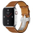 Apple Watch Series 4 (GPS + Cellular) Hermès Stainless Steel Case with Fauve Barenia Leather Single Tour Deployment Buckle