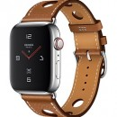 Apple Watch Series 4 (GPS + Cellular) Hermès Stainless Steel Case with Fauve Grained Barenia Leather Single Tour Rallye