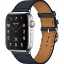 Apple Watch Series 4 (GPS + Cellular) Hermès Stainless Steel Case with Bleu Indigo Swift Leather Single Tour
