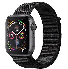 Apple Watch Series 4 (GPS) Space Gray Aluminum Case with Black Sport Loop