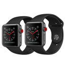 Apple Watch Series 3 (GPS + Cellular) Space Gray Aluminum Case with Black Sport Band(Like New)
